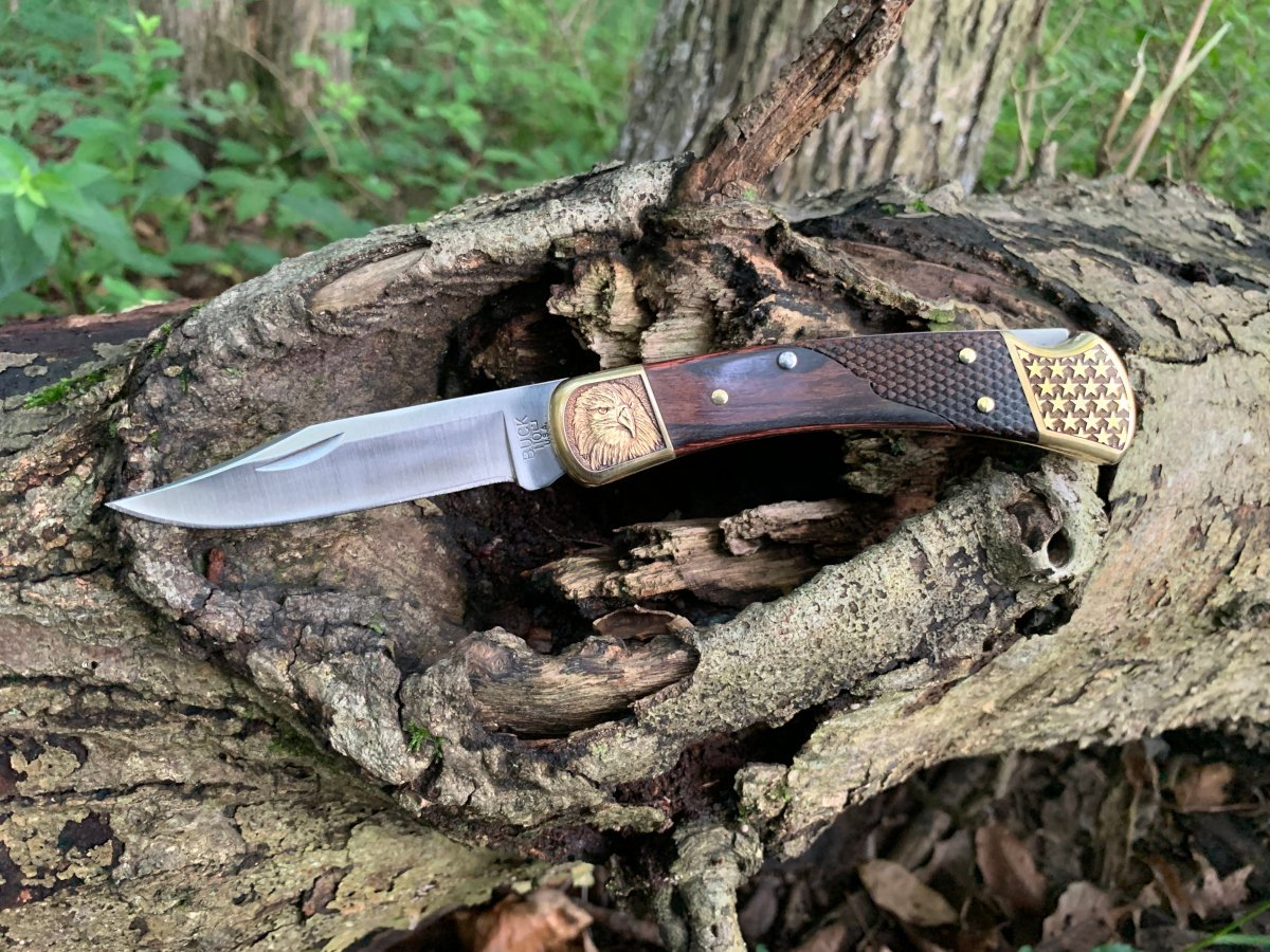 Altamont The Statesman Engraved Buck 110 Knife