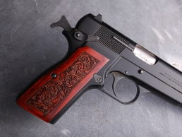 Browning Hi-Power Slim Panel Super Rosewood Leather Texture