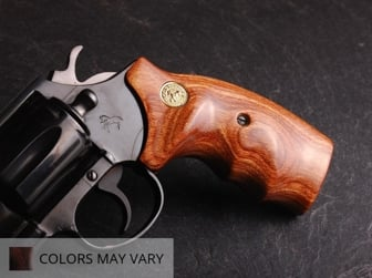 Colt D-Frame (Short Square Butt) Oversized Fingergroove Super Walnut with Gold Medallions