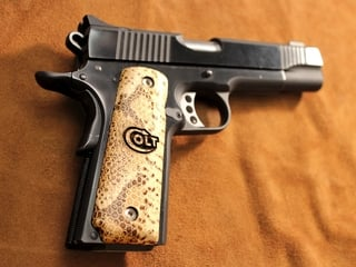 1911 Snakeskin Leather Panel, Colt Lasered Logo