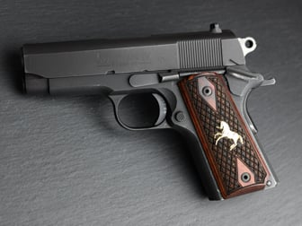 1911 Compact Classic Panel Super Rosewood Spanish Diamond with Gold Horse