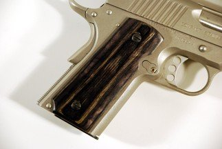 Colt 1911 Officer Classic Panel, Silver Black