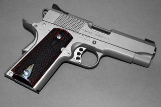Colt 1911 Officer Classic Panel, Charcoal Ruby, Snake Skin