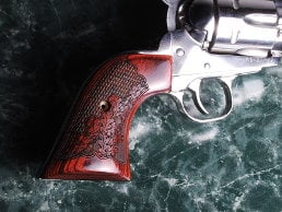 Ruger Blackhawk Classic Panel Super Rosewood Oak Leaf Checkered