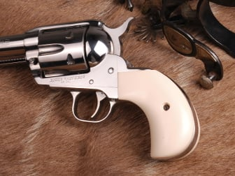 Ruger Vaquero Birdshead Classic Panel Imitation Stag with Lone Star  Medallions