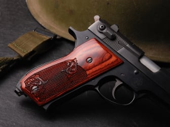 S&W Model 39 Classic Panel Super Rosewood Checkered Engraved