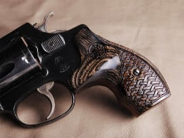 S&W J Round Boot Silverblack Basketweave with Laser Logo