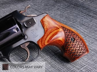 S&W J Round Boot Super Walnut Basketweave