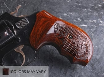 S&W J Round BATELEUR Super Walnut Checkered Engraved
