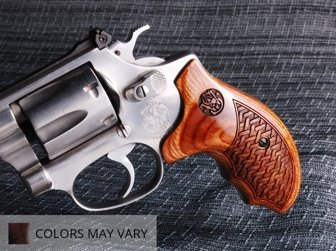 S&W J Round Combat Super Walnut Basketweave with Laser Logo