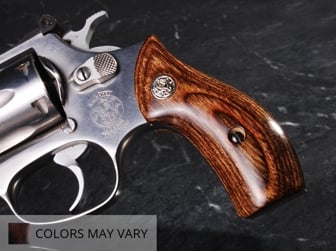 S&W J Round Classic Panel Super Walnut with Silver Medallions