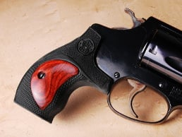 S&W J Round FALCONIA Grip with Super Rosewood Insert