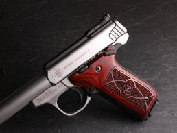 S&W 22 Victory Classic Panel Super Rosewood Checkered/Stipple with Laser Logo