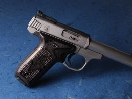 S&W 22 Victory Classic Panel Silverblack Crocback/Stipple