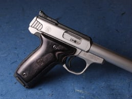 S&W 22 Victory Classic Panel Silverblack with Laser Logo