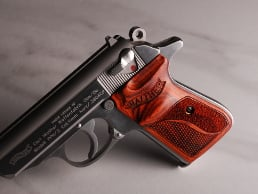Walther PPK/S (S&W Version Only) Ultima Panel Super Rosewood Checkered/Stipple with Walther Banner