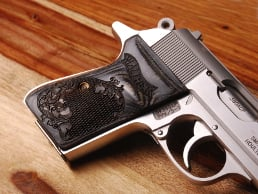 Walther PPK/S (S&W Version Only) Ultima Panel Silverblack Checkered Engraved with Walther Banner