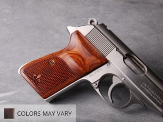 Walther PPK/S (S&W Version Only) Ultima Panel Super Walnut Checkered Fleur-de-Lis