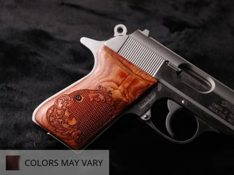 Walther PPK/S (S&W Version Only) Ultima Panel Super Walnut Checkered Engraved